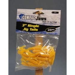 "Compac 3"" Single Jig Tails ~ Yellow"