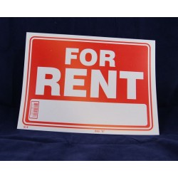 "PVC Sign - 9"" x 12"" ~ For Rent"