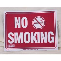 "PVC Sign - 9"" x 12"" ~ No Smoking"
