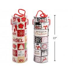 "Christmas Wine Bottle Tube ~ 4"" x 13"""