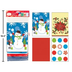 "Christmas Plastic Tablecover ~ 52"" x 72"""