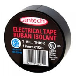 Cantech Black Vinyl Electrical Tape ~ 10m x 10 rolls