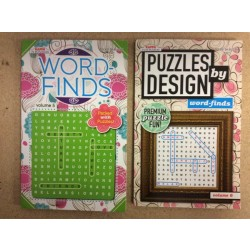 Word Find Books ~ Puzzles by Design - Digest Size