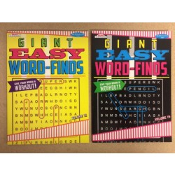 Word Find Books ~ Giant Easy Word-Finds