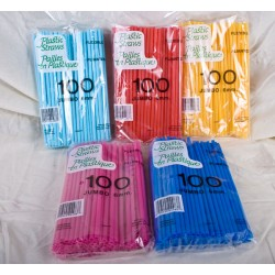Flex Straws - Fashion Colors ~ 100 per pack
