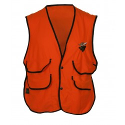 Thermoking Fluorescent Orange Fleece Vest w/Moose Embroidery