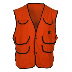 Kid's Thermoking Fluorescent Orange Fleece Vest w/Snap Closure