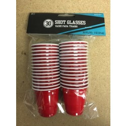 Red Shot Glasses - 2oz ~ 30 per pack
