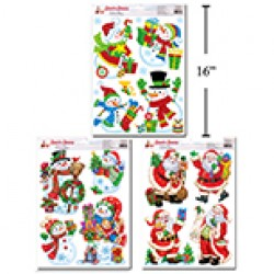 Christmas Window Clings ~ 8 assorted
