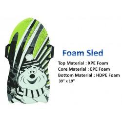 "Foam Snow Sledge with 2 Handles ~ 39"" x 19"""