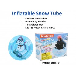 """Inflatable Snow Tube with 2 Handles ~ 38""""D"""