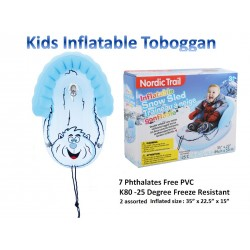 """Inflatable Kinder Boggan with Tow Rope ~ 35"""" x 22.5"""""""