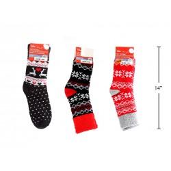 Christmas Ladies Double Layer Cozy Socks