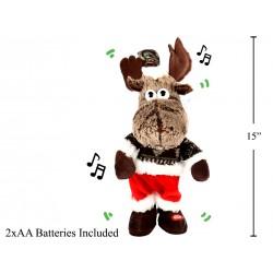 "Christmas 15"" Animated Dancing Moose with Music"