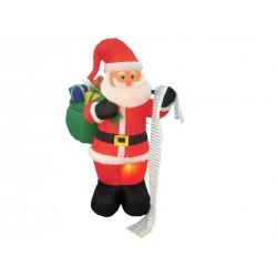 Christmas Inflatable 3- LED Light-Up Santa with Toy Sack & List ~ 6'