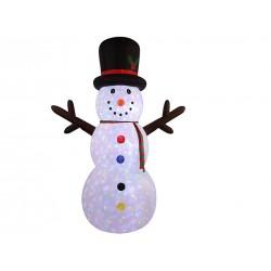 Christmas Inflatable 4- LED Light-Up Snowman ~ 8'