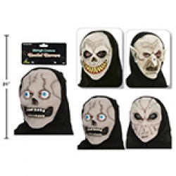 Halloween Glow-in-the-Dark Mask with Hood