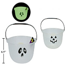 Halloween Glow-in-the-Dark Trick or Treat Pail ~ 8""