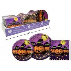 Halloween Paper Plates & Napkin Display ~ 48 pieces
