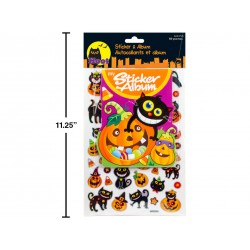 Halloween Stickers & Album ~ 50 pieces