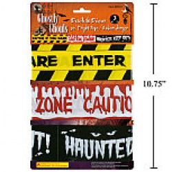 Halloween Fright Tape - 3assorted ~ 30'