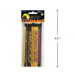 Halloween Pencils w/Erasers ~ 10 per pack