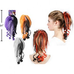Halloween Scrunchy with Colored Hair Pieces