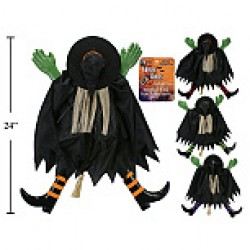 Halloween Tree Truck Witch Decoration