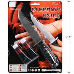 Halloween Bleeding Knife with 2 {0.5oz} tubes of Fake Blood