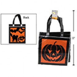 "Halloween Printed Metallic Non-Woven Trick or Treat Bags - 14""L x 15""W ~ 2 per pack"