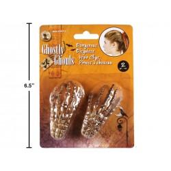 Halloween Skeleton Hands Hair Clips ~ 2 per pack