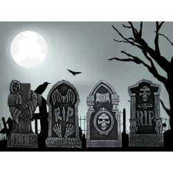 Halloween Tombstone Set ~ 4 piece set