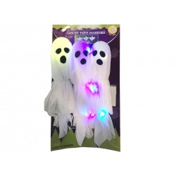 Halloween Light-Up Ghosts Path Markers ~ 3 per pack