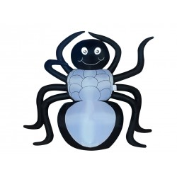 Halloween Inflatable Spider with 3 LED Lights ~ 6'