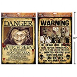 "Halloween ""Wanted"" Posters"