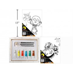 Halloween Canvas Acrylic Paint Set