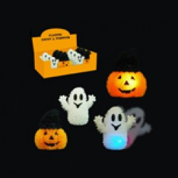 Halloween Light-Up Puffer Pumpkins & Ghosts ~ 12 per display