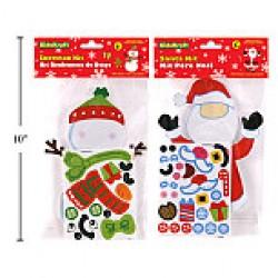 Christmas Sticker Character Kit ~ Santa or Snowman