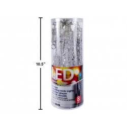 Christmas LED Cascading Icicle Lights - 8 per pack ~ 16.7'