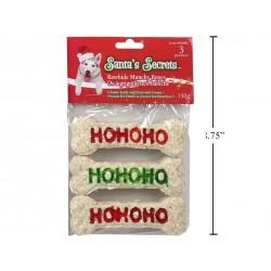 "Christmas Ho Ho Ho 4.5"" Munchy Bones - 150gr ~ 3 per pack"