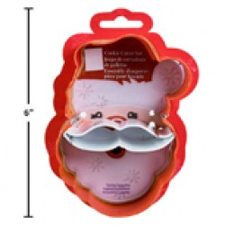 Chrismtas Santa Tin Plated Cookie Cutter ~ 2 pieces