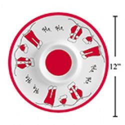 """Christmas Melamine Chip & Dip Platter ~ 12""""D"""