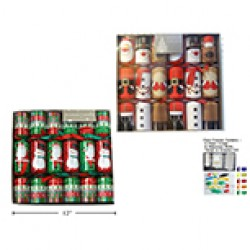"Christmas Crackers - 12"" ~ 6 per pack"