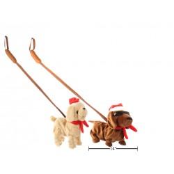 Christmas Animated Walking & Singing Dog with Leash