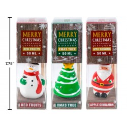 Christmas Holiday Scents Reed Diffuser with Character Holders