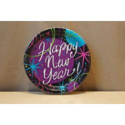 "New Year's Stellar 9"" Plates ~ 8 per pack"