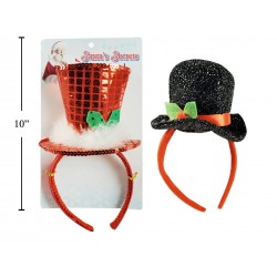 Christmas Tinsel Hat Headband