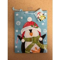 Medium Christmas Gift Bags ~ Penguin
