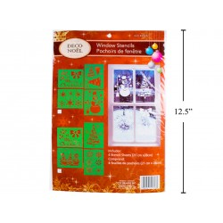 "Christmas Window Stencils - 8.5"" x 11"" ~ 4 per pack"