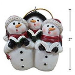 """Christmas Polyresin Snowman Choir Ornament ~ 2""""H"""